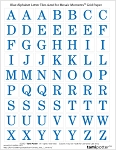 FREE DOWNLOAD for Mosaic Moments Grid - Blue Alphabet Inch Letters