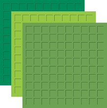 12X12 FIELDS OF GREEN TRIO  - EMERALD, LIMEADE, SPRING GREEN -6 Sheets (2 sheets of each color)