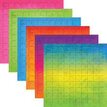 12X12-12 Summer Grid Paper (Pack of 12 sheets - 2 each of 6 colors)