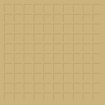 12X12 MEDIUM COFFEE BROWN GRID PAPER - 6 Sheets