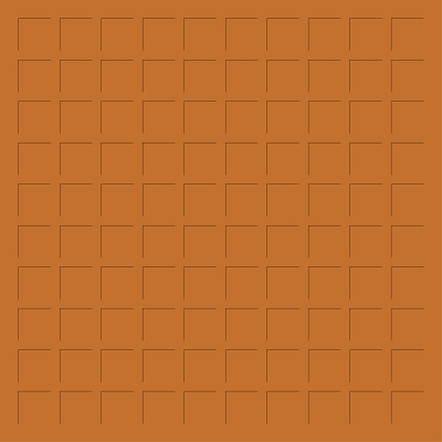 12X12 DEEP TERRA COTTA GRID PAPER - 6 Sheets
