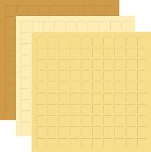 12X12 GOLDEN AGE TRIO  - PUMPKIN PIE, FRESH CREAM, & SUNFLOWER -6 Sheets (2 sheets of each color)