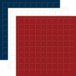 12x12 NAVY, WHITE, BRICK - 6 Sheets (2 sheets of each color)
