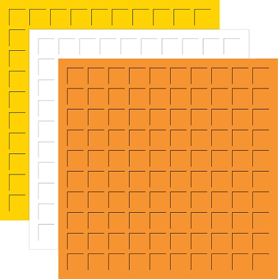 CANDY CORN TRIO - 12X12 SUNSHINE, WHITE, & Orange - 6 sheets (2 sheets each color)