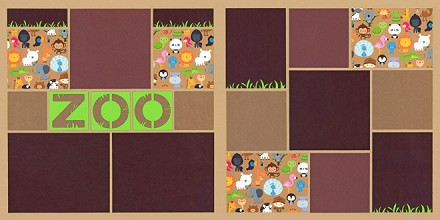 """Zoo Friends"" Page Kit featuring Doodlebug Designâ""¢"