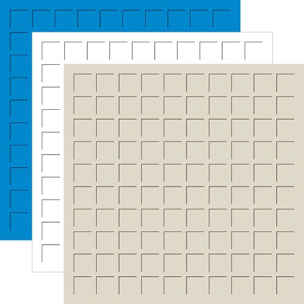 12X12  BAHAMA BLUE, WHITE, BEACH -6 Sheets (2 sheets of each color)