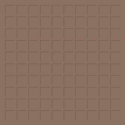 12X12 CHOCOLATE MILK GRID PAPER - 6 Sheets