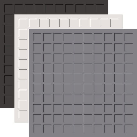 12X12 LEGENDS & STONE TRIO  - GRAPHITE, GRAY, PEWTER -6 Sheets (2 sheets of each color)