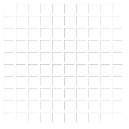 12X12 WHITE GRID PAPER - 6 Sheets