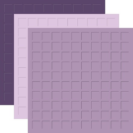 12X12 LILAC BLOOMS TRIO - DEEP LOVELY LILAC, LILAC, & MEDIUM LOVELY LILAC -6 Sheets (2 sheets of each color)