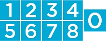 2x2 No. 2 Numbers Bundle - 1&2, 3&4, 5&6/9, 7&8, and 0