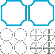 Soft Corner Grid Pieces Die (L2)