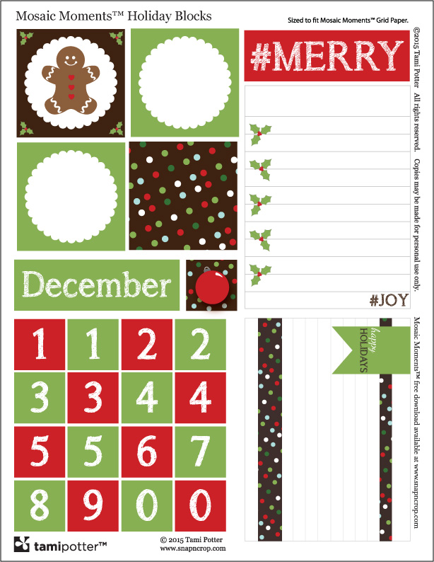Mosaic Moments Holiday Blocks Free Printable