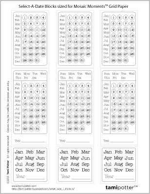 FREE DOWNLOAD for Mosaic Moments Grid - Select A Date