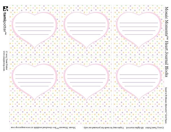 Free Download  - Heart Journal Blocks