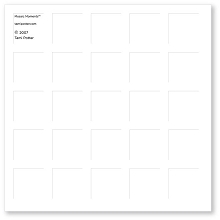 6X6 WHITE GRID PAPER - 6 Sheets