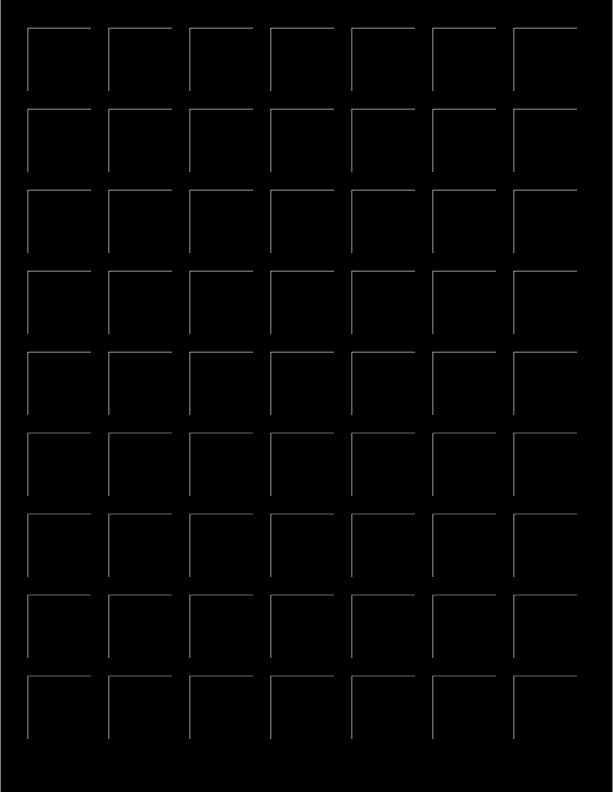 8.5x11 BLACK GRID PAPER - 6 Sheets