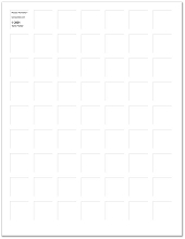 8.5x11 WHITE GRID PAPER - 6 Sheets