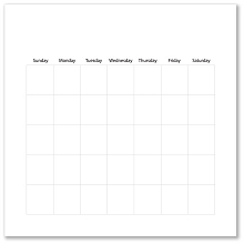 CALENDAR PAGES 8X8 WHITE - 12 sheets