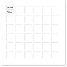 8X8 WHITE GRID PAPER - 6 Sheets