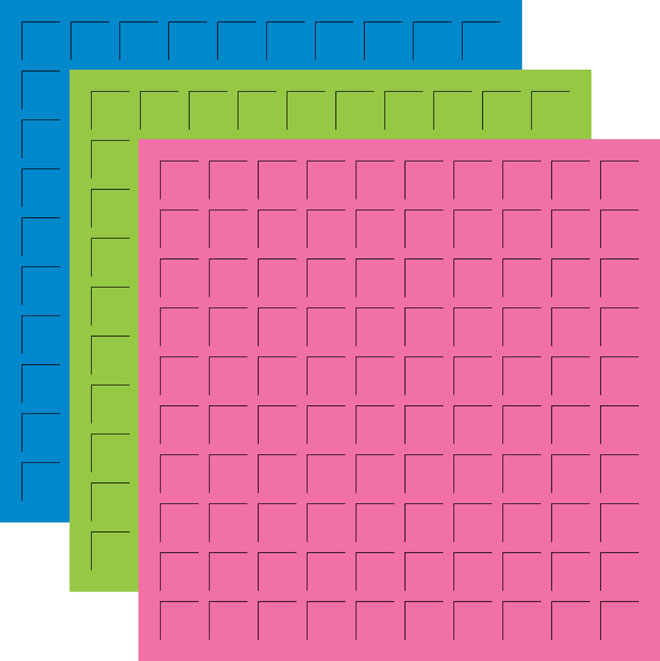 12X12 BEACH BRIGHTS TRIO  - BAHAMA BLUE, LIMEADE, CYCLAMEN PINK -6 Sheets (2 sheets of each color)