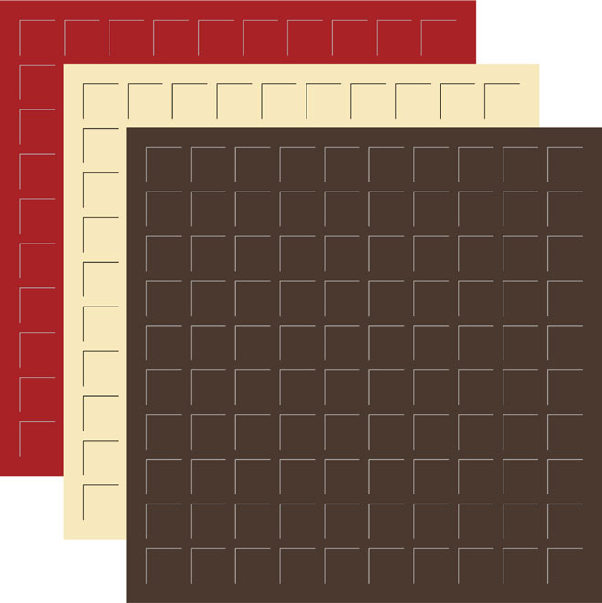 12X12 Cherry on Top  Trio - Cocoa, Fresh Cream, Brick -6 Sheets (2 sheets of each color)
