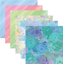 12X12-12 Happiness (Pack of 12 sheets - 2 each of 6 colors)
