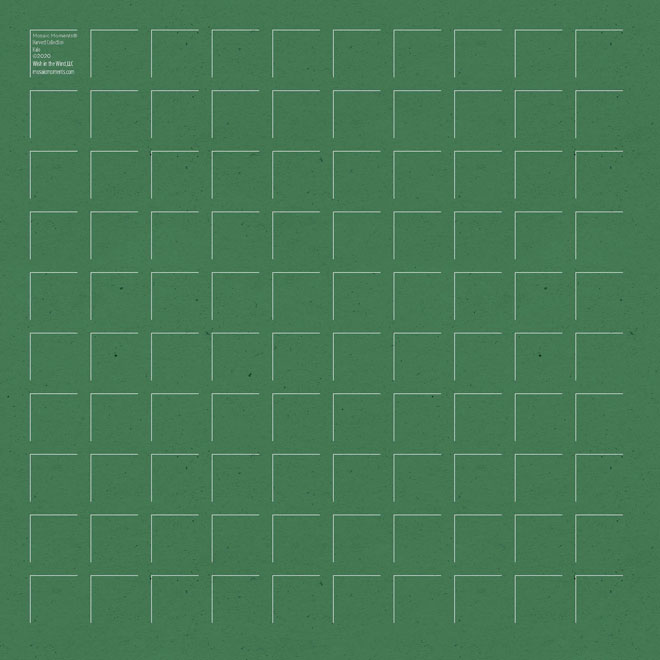 NEW 12X12 Kale GRID PAPER - 6 Sheets