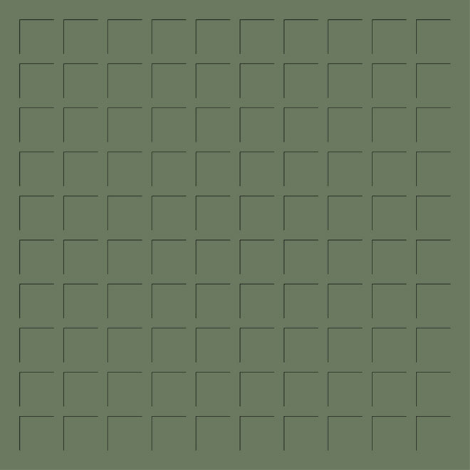 12X12 MILITARY GREEN GRID PAPER - 6 Sheets