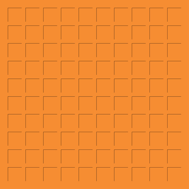 12X12 ORANGE GRID PAPER - 6 Sheets