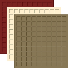 Time for Turkey TRIO - 12X12 Sage, Ivory, Maroon - 6 SHEETS (2 sheets each color)