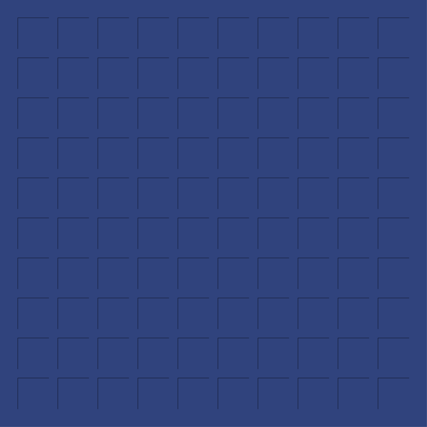 12X12 PRUSSIAN BLUE GRID PAPER - 6 sheets