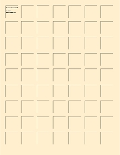 8.5x11 IVORY GRID PAPER - 6 Sheets