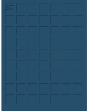 8.5x11 PERSIAN BLUE GRID PAPER - 6 Sheets