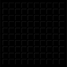 12X12 BLACK GRID PAPER - 6 Sheets