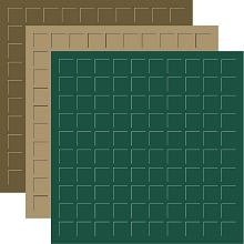 12X12 EARTH PACK TRIO - Forest, Fresh Malt & Olive -6 Sheets (2 sheets of each color)