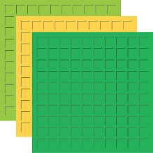 12X12 Pot O' Gold Trio  - Green, Light Gold, Limeade -6 Sheets (2 sheets of each color)