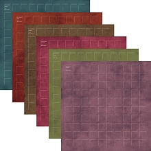 12X12-12 Renaissance Revival Grid Paper (Pack of 12 sheets - 2 each of 6 colors)
