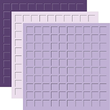 12X12 ROYALTY  TRIO - VIOLET, LILAC & ROYAL PURPLE -6 Sheets (2 sheets of each color)