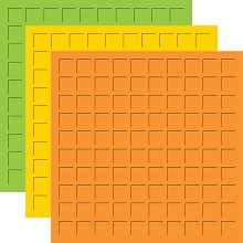 12X12 CITRUS TRIO  - LIMEADE, SUNSHINE &  ORANGE -6 Sheets (2 sheets of each color)