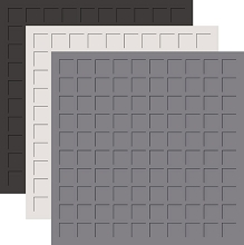 12X12 LEGENDS & STONE TRIO  - GRAPHITE, GREY, PEWTER -6 Sheets (2 sheets of each color)