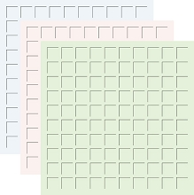 12X12 PERFECTLY PASTEL TRIO  - MIST, PETAL PINK, LOTUS -6 Sheets (2 sheets of each color)