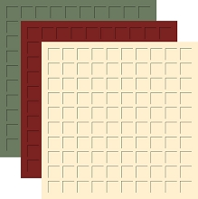 12X12 Victorian Christmas TRIO  -Military Green, Maroon, Ivory -6 SHEETS (2 sheets each color)