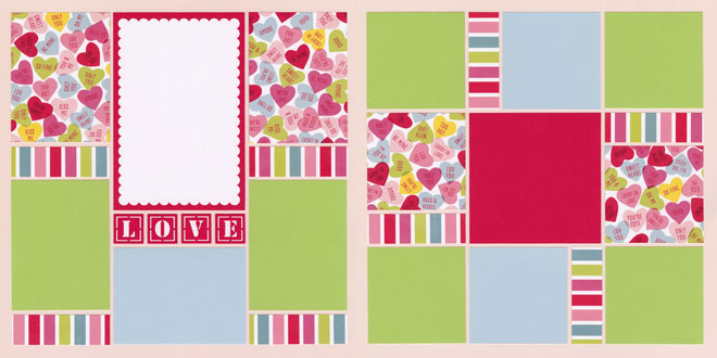 Must Be Love Page Kit featuring Pink Paislee™