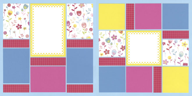 Bright Side Page Kit featuring Pink Paislee™