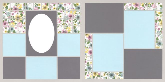 Fine Bunch of Flowers Page Kit featuring Shimelle™