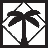Palm Tree Cornerstone - Black