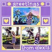 """Greetings from Alexis"" with the Stamp Dies"