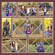 """Family Photos"" using Crisscross 4x6 (layered with 3x5), 3x5, 3x3, and 2x4"